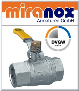 Kugelhahn mit DVGW Zulassung für Trinkwasser / Gas