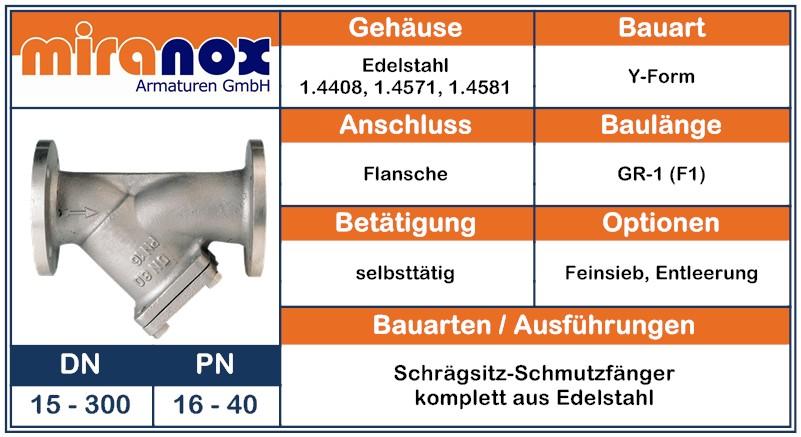 Nicht-rostender Schmutzfänger aus Chrom-Nickel-Stahl 1.4408 1.4571 1.4581